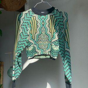 NWT Missoni green crop top sweater